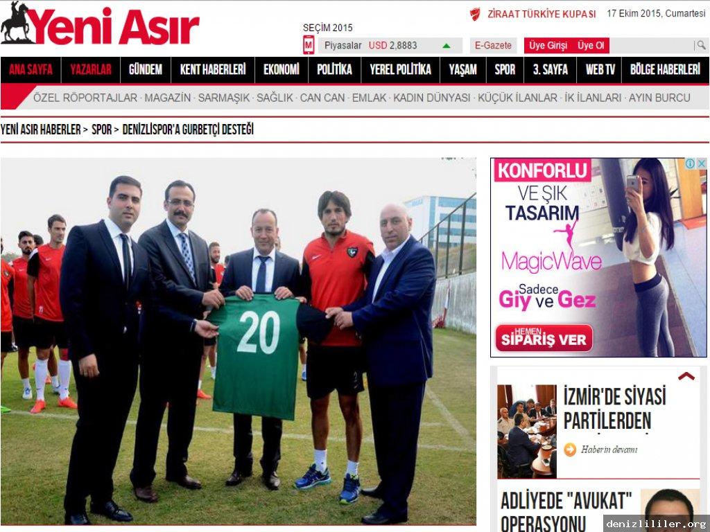 Yeniasır Gazetesi - Denizlispor'a gurbetçi desteği