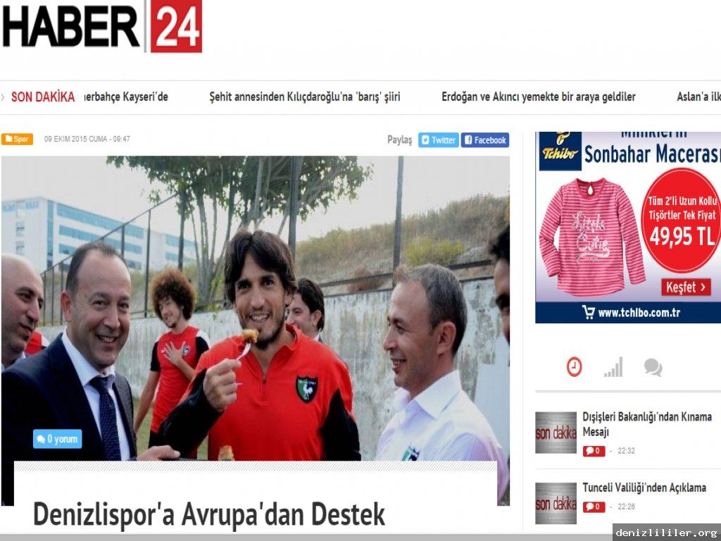 HABER24 - Denizlispor'a Avrupa'dan Destek