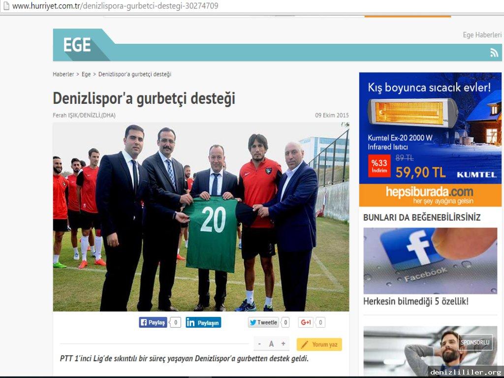 Hürriyet - Denizlispor'a gurbetçi desteği
