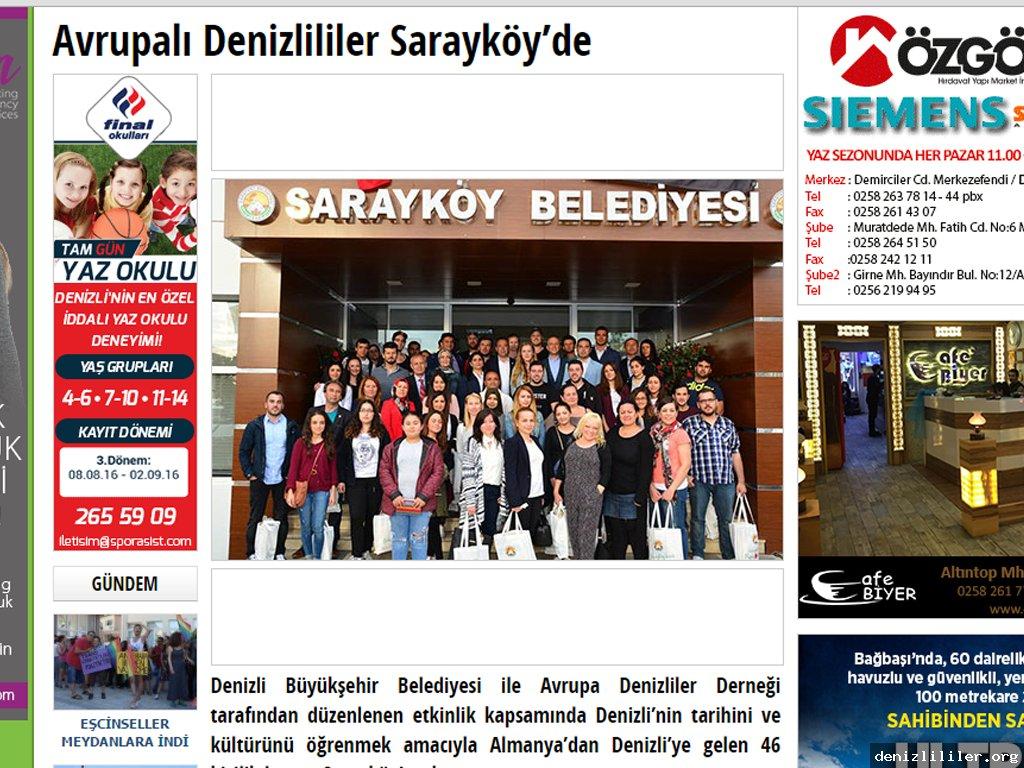 Denizlihaber.com - Avrupalı Denizlililer Sarayköy'de