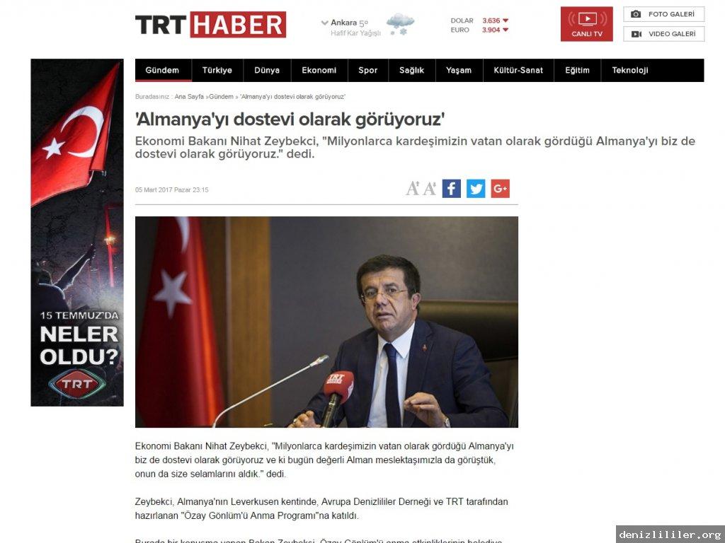 TRT Haber: Özay Gönlüm Anma Günü