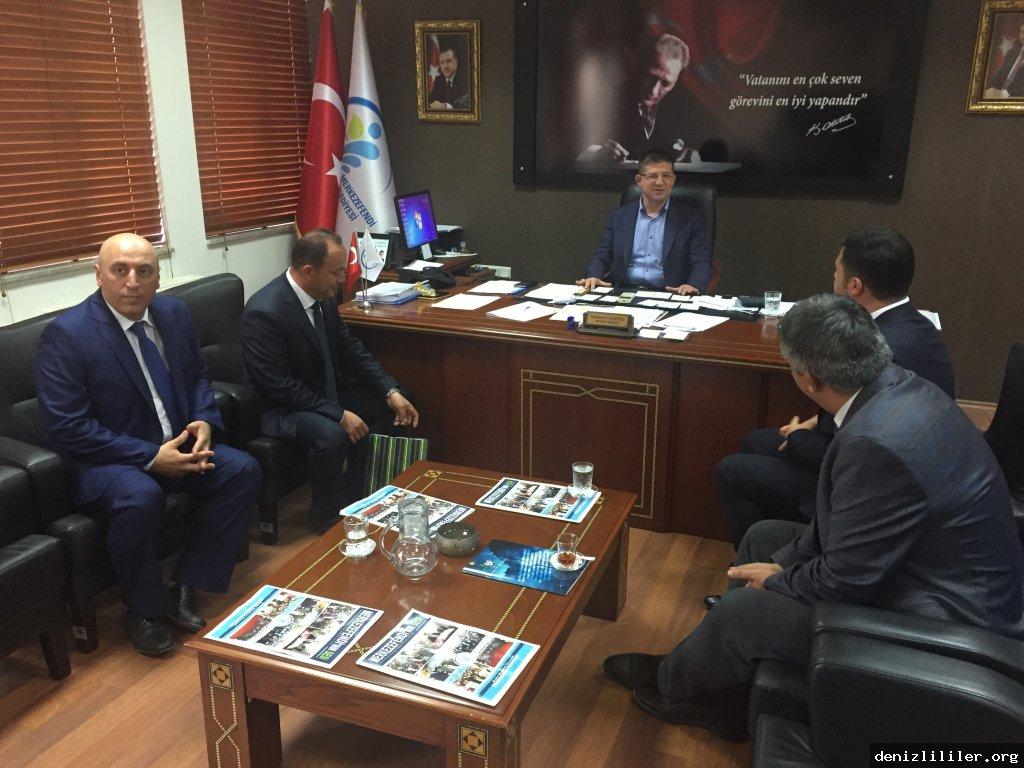 Merkezefendi Belediye Başkanı Muhammet Subaşıoğlu'nu makamında ziyaret