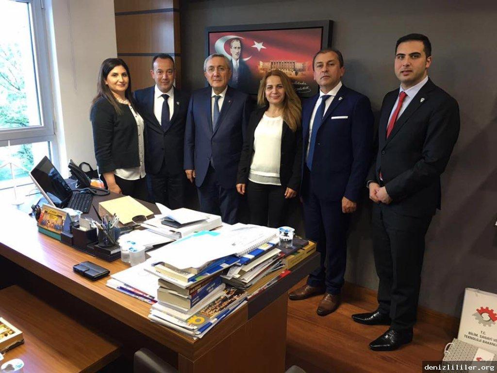 MHP Denizli Milletvekili Emin Haluk Ayhan'ı makamında ziyaret