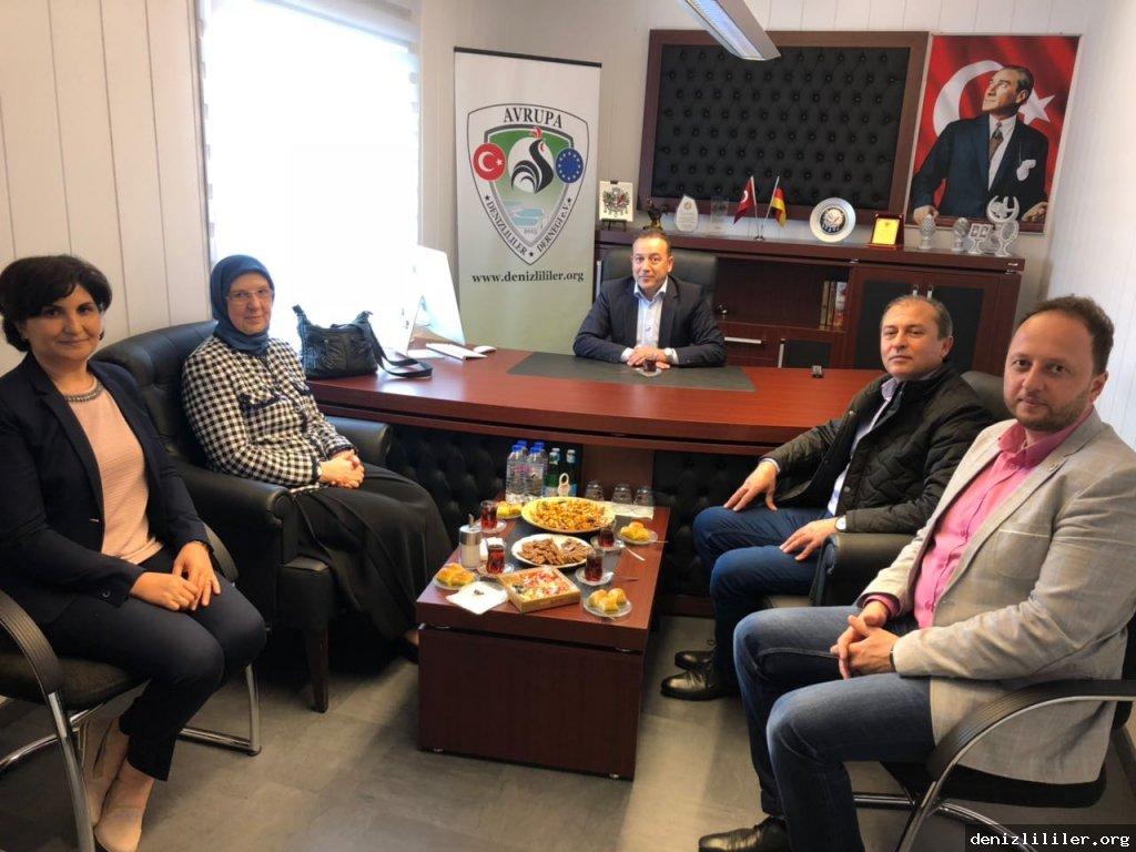 Dr. Sema Ramazanoğlu Avrupa Denizlililer Derneği'ni ziyaret etti