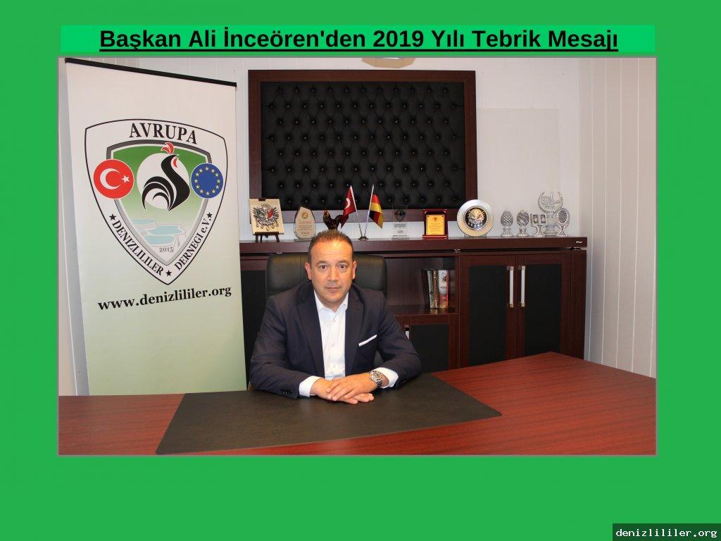 Başkan Ali İnceören'den 2019 Yılı Tebrik Mesajı
