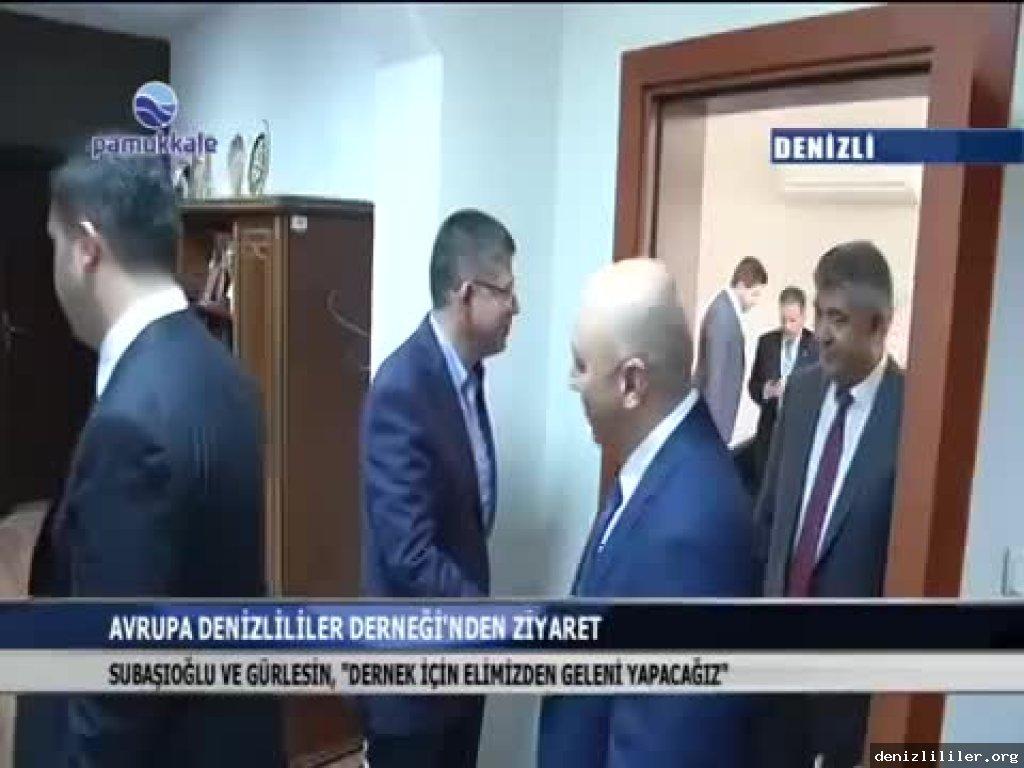 Pamukkale TV - Merkezefendi ve Pamukkale Belediyelerine ziyaret