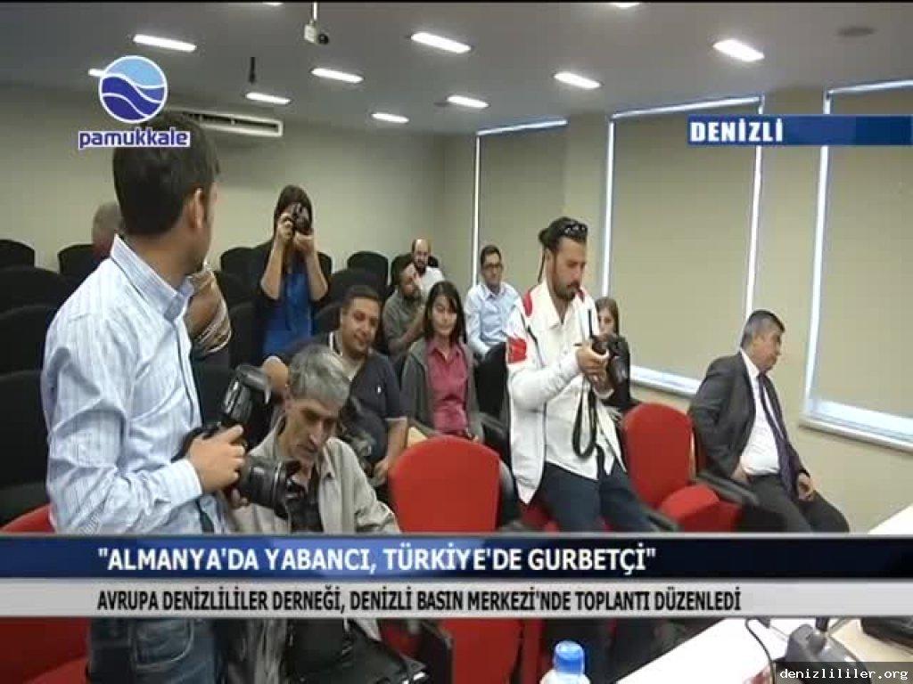 Pamukkale TV - Avrupa Denizlililer Derneği, Denizli Basın Merkezi'nde toplantı düzenledi