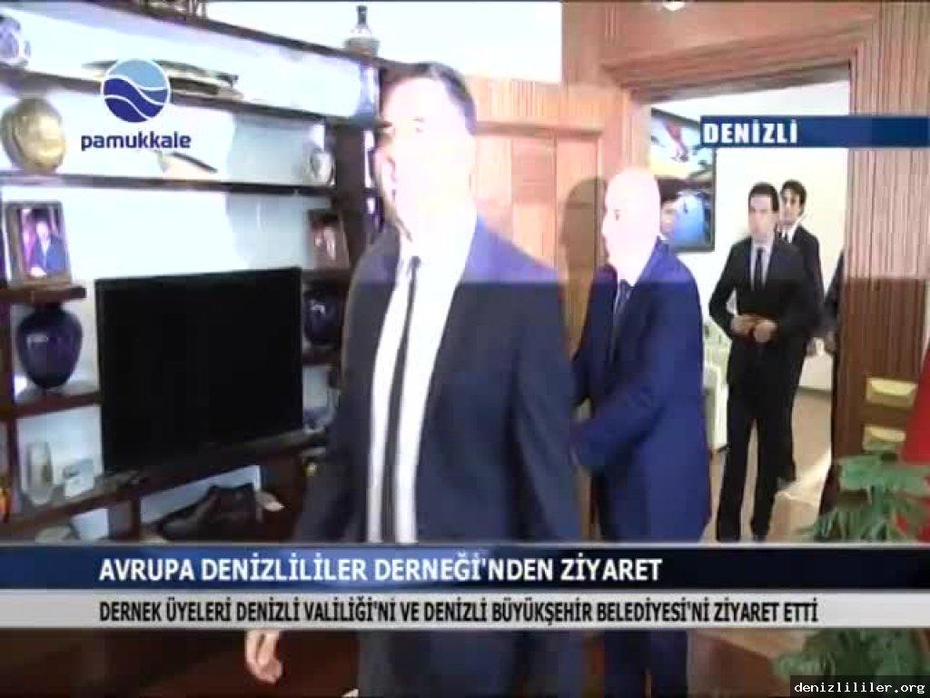 Pamukkale TV - Denizli Valiliği ve Denizli Büyükşehir Belediyesi'ne ziyaret