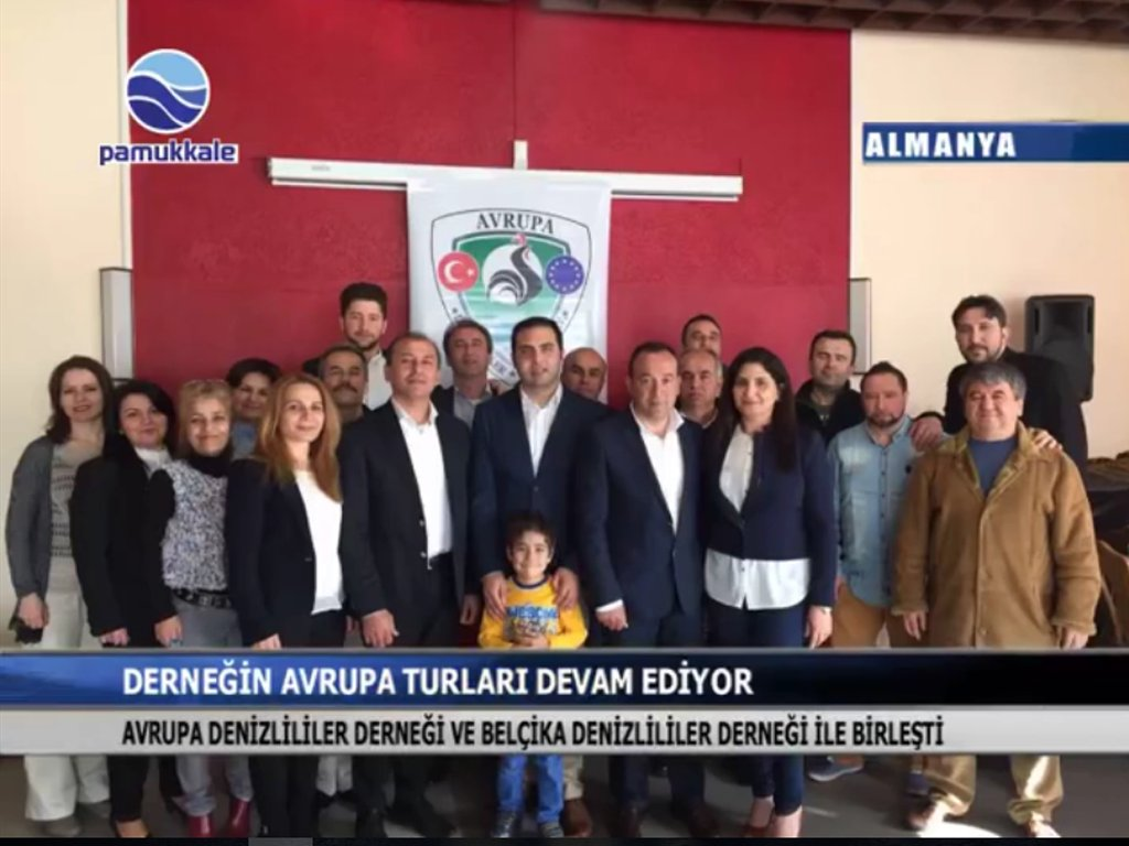 Pamukkale TV -  Avrupa Denizlililer Dernegi e.V. ile  Belçika Denizlililer Derneği 23 Nisanı kutladı