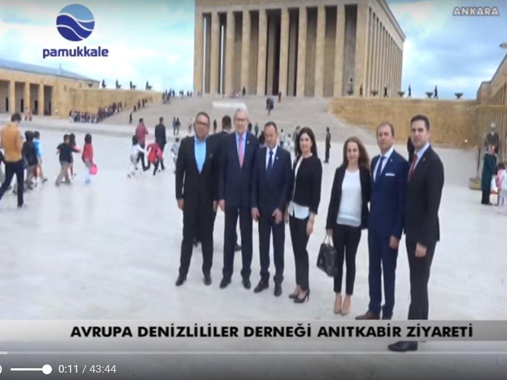 Avrupa Denizlililer Derneği Anıtkabir'i ziyaret etti