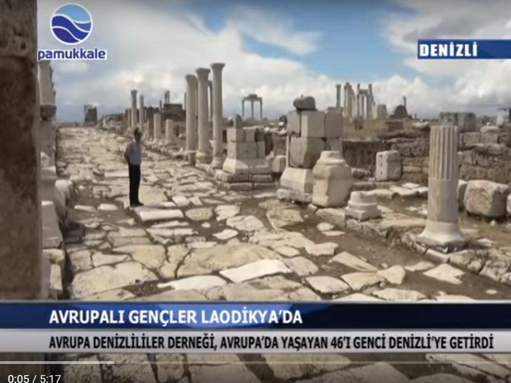Pamukkale Tv - AVRUPALI GENÇLER LAODİKYA'DA